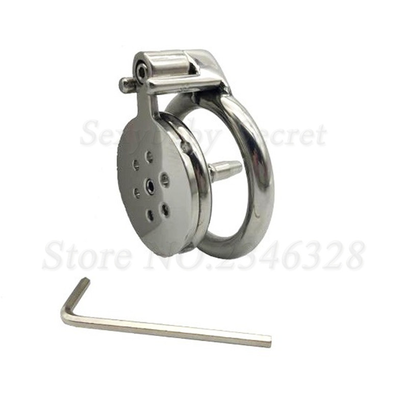 New Design Super Small Stainless Steel Male Chastity Device With Anti-off Ring Catheter,Cock Cage,Penis Rings,Sex Toys For Man