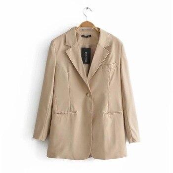 Blazer Women 2019 New Casual Long-sleeved Suit Female Winter Clothes Korean Feminino Longo Harajuku
