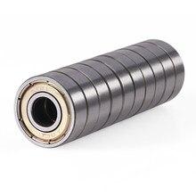 Roulement à billes à gorge profonde 608ZZ à une rangée, en acier Miniature à haute teneur en carbone, à Double blindage, 8x22x7 MM, 10 pièces
