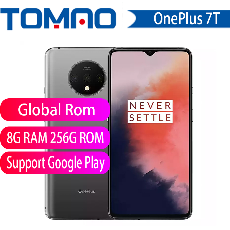 Original OnePlus 7T Global ROM Snapdragon 855 Plus 6.55'' AMOLED Screen 90Hz Fluid Display 48MP Triple Cam 30W Charge Smartphone(China)