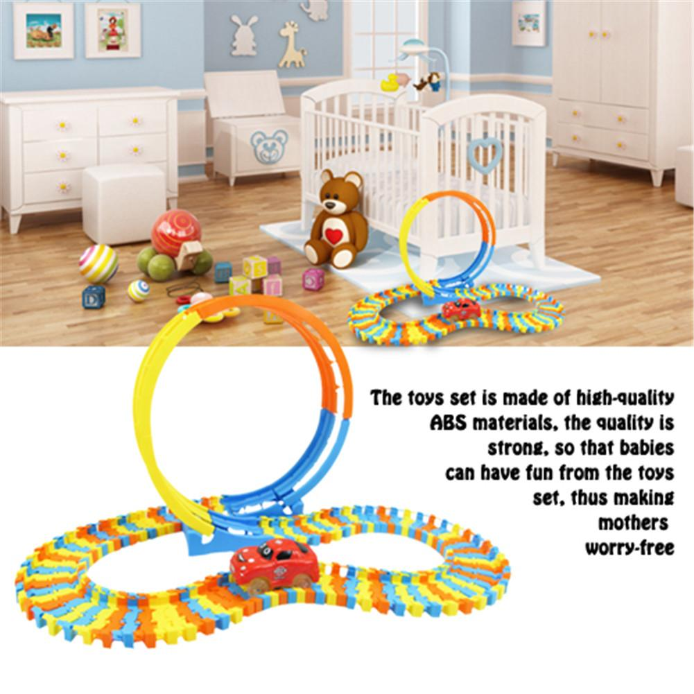 Building Blocks Track Toy DIY Building Block Track Toys Set Education Construction Toys For Kids Children New Year Birthday Gift