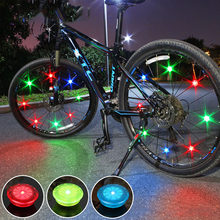 Mini Bicycle led Light with Battery Tyre Valve Caps Wheel Spokes Led Light Bike Lights Mountain Road Bike Bicycle Running Lights(China)