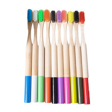Mixed Color Bamboo Toothbrush Eco Friendly wooden Tooth Brush Soft Bristle Tip Charcoal Adults Oral Care Toothbrush(China)