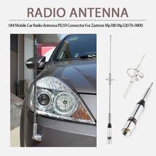 45cm 2.15/3.0dbi nagoya Nl-770s pl259 dupla banda vhf/uhf móvel antena de rádio do carro conector pl259 para zastone mp380 mp320