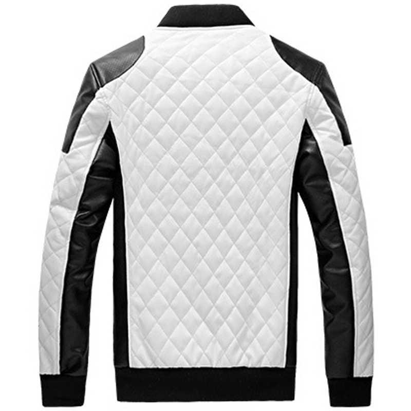 עור מעיל גברים מותג עיצוב דק צווארון עומד זכר מזדמן אופנוע מעיל עור Mens טלאי Pu מעילים בתוספת גודל 5xl