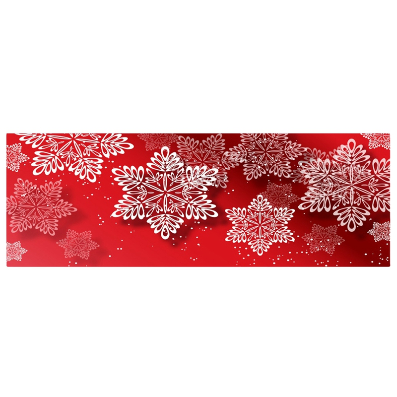 3D Christmas Santa Claus Anti-Slip Kitchen Dining Room Fireplace Floor Mat Flannel Carpet Rug Durable Xmas Home Decor Floor Rug