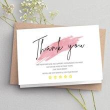 Tarjeta de agradecimiento blanca para decoración de negocios pequeños, paquete de regalo, 30 Uds.