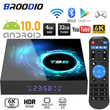 2020 t95 smart tv box android 10.0 4g 64gb 128gb 6k youtube media player 2.4g wifi tvbox android conjunto-topo 2gb 16gb conjunto caixa superior