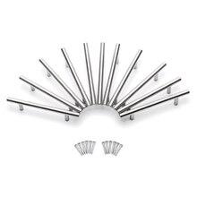 15 шт. мебельные ручки для кухонного шкафа T Тянет дверные ручки из нержавеющей стали для мебель, дверь, шкаф Бар Ручка 150x