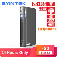 BYINTEK UFO P12 300 zoll 2019 Neueste Smart 3D Full HD 4K 5G WIFI Android Pico Tragbare Micro mini LED DLP Projektor für Iphone 11