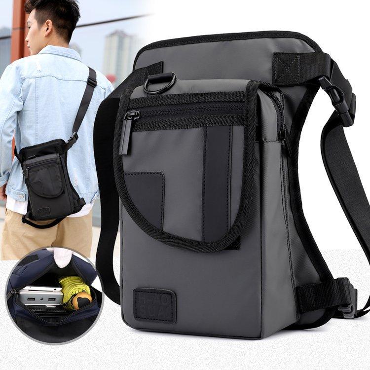 New Style Korean-style Trend Leg Fashion Chest Pack Multi-functional Wallet Waterproof Niu Jin Liao Lightweight Men Oblique Bag