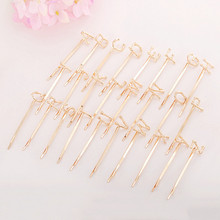 10pcs Women Hair Clips Letter A-Z Fashion KC Gold Bobby Pins  Hairpins For Jewelry Making Hair Accessories DIY Hair Clip Wholesa