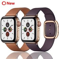 Ремешок для apple watch 42 мм 38 мм 44 мм 40 мм correa iwatch 5 4 3 современный кожаный браслет с пряжкой аксессуары для apple watch 4 5