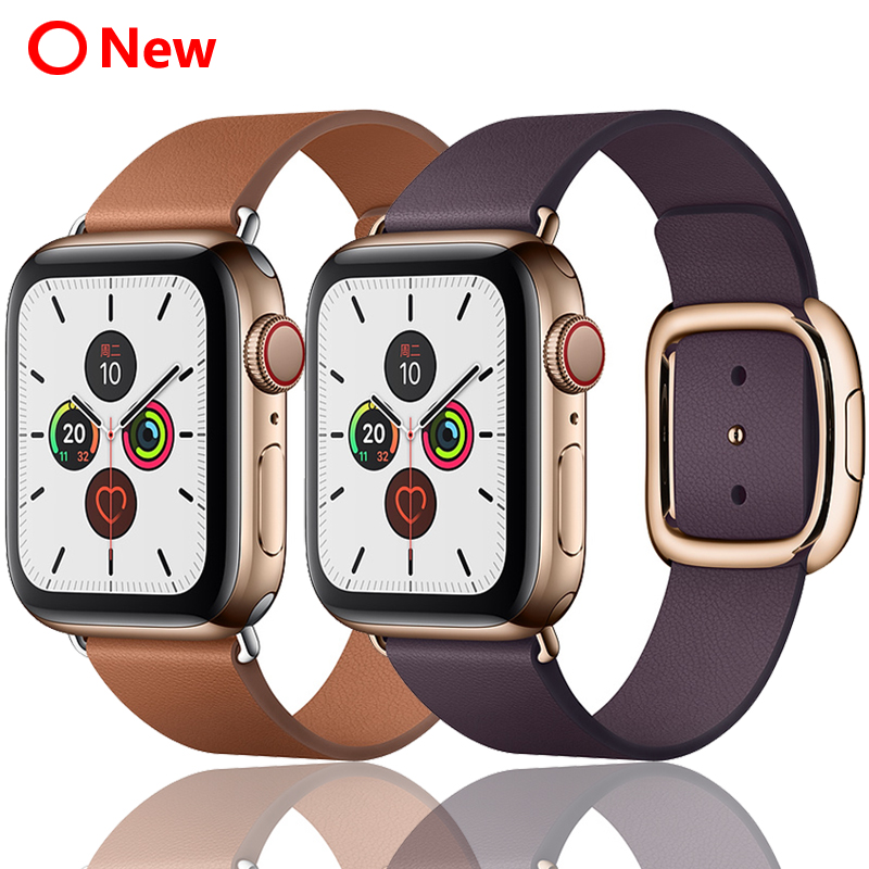 Strap for <font><b>Apple</b></font> <font><b>Watch</b></font> band <font><b>42mm</b></font> 38mm 44mm 40mm <font><b>correa</b></font> iwatch 5 4 <font><b>3</b></font> modern buckle leather bracelet <font><b>apple</b></font> <font><b>watch</b></font> 4 5 accessories image