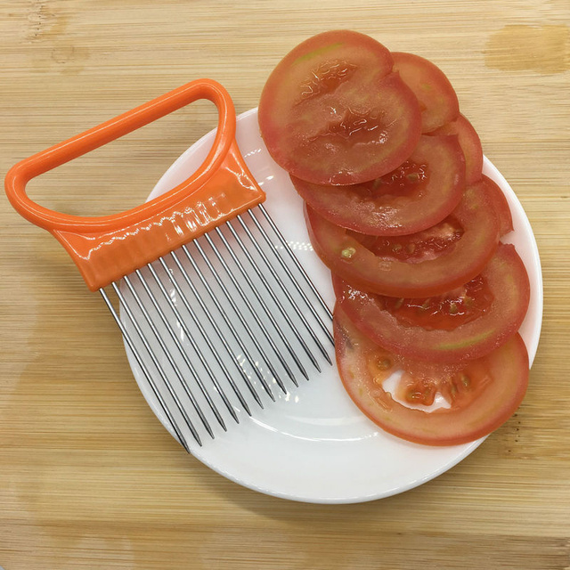 Stainless Steel Plastic Vegetable Slicer Multi-purpose Onion Cutter Metal Meat Needle Kitchen Accessories Gadgets Tomato Cutter