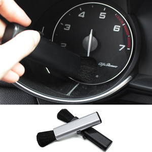 Image 5 - QHCP רכב מיזוג אוויר לשקע ניקוי פלסטיק קטן אבק הסרת חפץ רך מברשת נשלף פנים עבור כל מכוניות