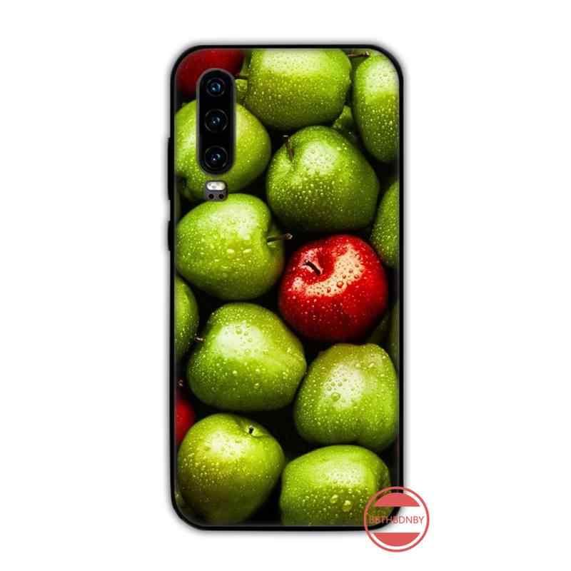 フルーツと野菜キャンディーカラーアボカド電話ケースhuawei社P9 P10 P20 P30 プロliteスマートメイト 10 lite 20 Y5 Y6 Y7 2018 2019