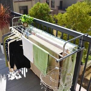 Дешевая Портативная Складная Сушилка для окон, подвесная сушилка из нержавеющей стали, сушилка для балкона, Полка для полотенец, Стёганое о...