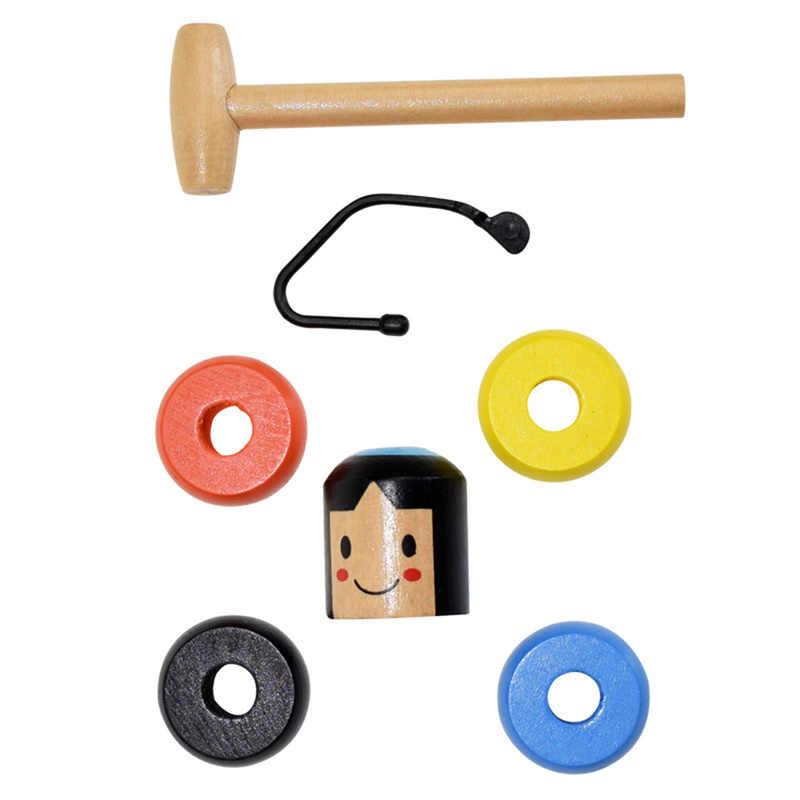 Novo interessante brinquedo mágico de madeira 2019 pouco homem de madeira que não pode bater tumbler brinquedos obedientes para crianças dropshipping