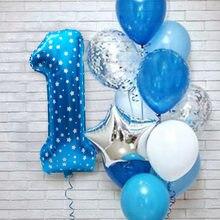 12 pçs 1st 2nd 3rd 4 5 6 7 anos feliz aniversário número da folha balões bebê menino menina festa decorações crianças meu 1 primeiro suprimentos