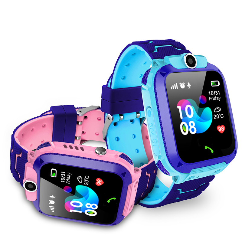 YQT stable quality Q12 <font><b>Kids</b></font> <font><b>SmartWatch</b></font> For Baby Child With GPS Tracker SOS Call <font><b>Kid</b></font> Smart Watch <font><b>Q50</b></font> with Phone Call <font><b>kids</b></font> gift image