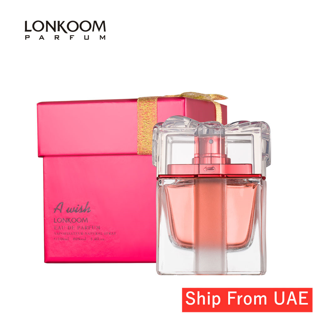 LONKOOM Lady Perfume EDP A WISH RED Floral-Fruity Eau De Parfum Fragrance For Women 100ml Long Lasting Aroma Free Shipping