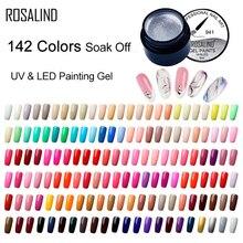 ROSALIND 5 мл Гель-лак для рисования 142 цветов набор гель-лаков для ногтей для маникюра Сделай Сам верхнее Базовое покрытие Hybird дизайн праймер для ногтей