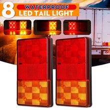 Luz LED trasera para coche y camión, luz indicadora de señal de giro para remolque 4WD 4X4 Camper Ute, 2x12V