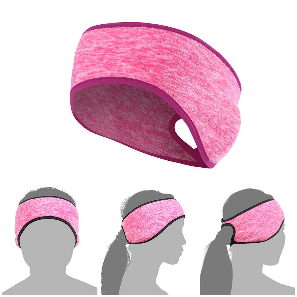 야외 여성 양털 포니 테일 스포츠 머리띠 실행 휘트니스 요가 따뜻한 체육관 사이클링 테니스 Sweatband 머리 땀 Headscarf 안전