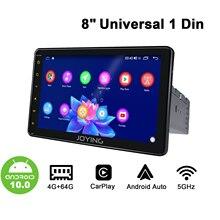 Универсальный Автомобильный мультимедийный плеер, стерео система на Android 10, 8 дюймов, 1 Din, 4 Гб ОЗУ, 64 Гб ПЗУ, модем DSP, 4G, беспроводное рулевое колесо Carplay