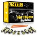 BMTxms Canbus для Toyota Highlander Kluger 2001-2020 светодиодный купольный светильник для автомобиля Комплект для номерного знака