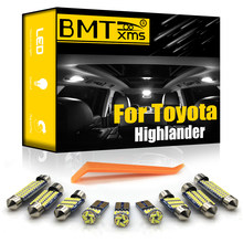 BMTxms Canbus para Toyota Highlander Kluger 2001-2020 vehículo LED Interior Domo Luz de mapa lámpara de placa de matrícula Kit