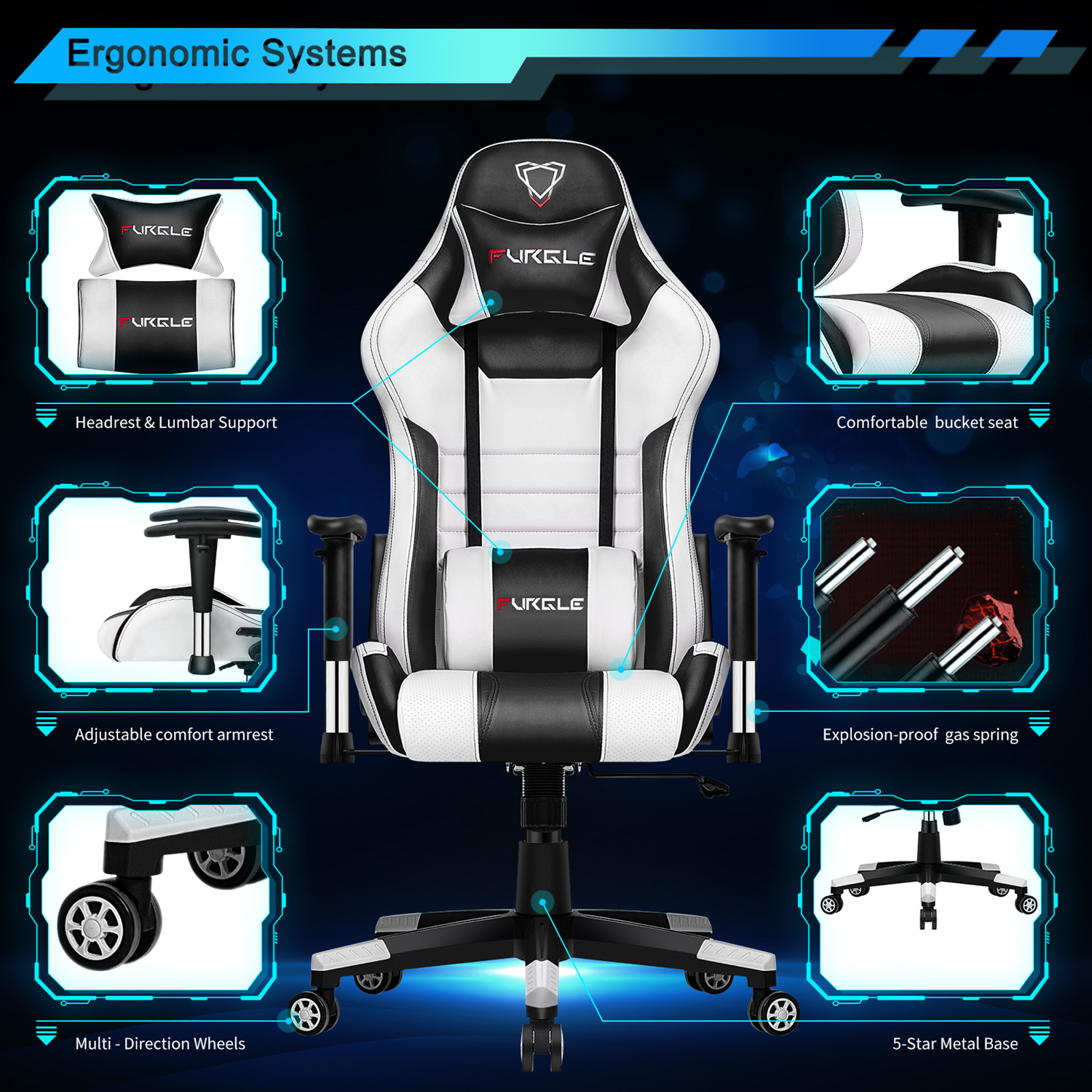 High Back Racing Gaming Chair Best Children's Lighting & Home Decor Online Store