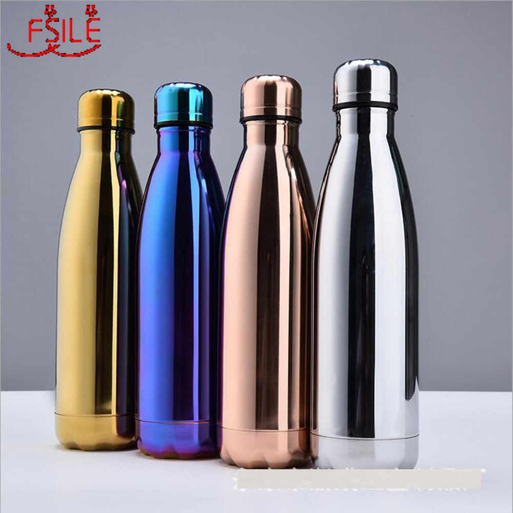 Stainless Steel Water Bottle Insulated Vacuum Sport /& Gym Drink Flask 500-1000ML