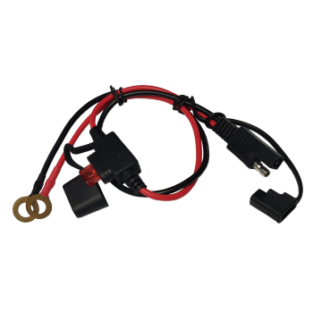 JKM emergency power cord SAE solar plug cord SAE to 8mm brass O-terminal motorcycle test with 10A memory fuse holder