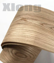 2Pieces/Lot L:2.5Meters Wide:18CM Thickness:0.3mm Elm Wood Veneer Decoration Furniture Veneer
