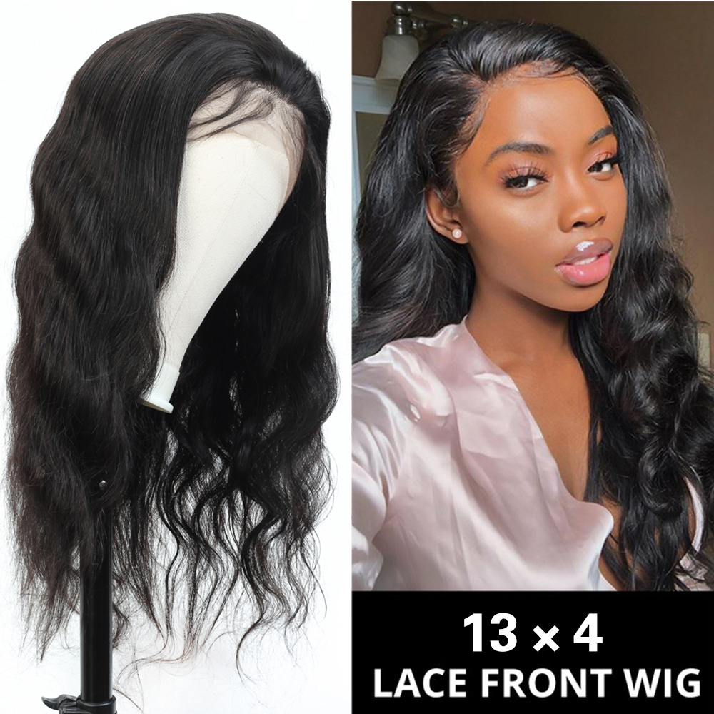 Fashion Plus Body Wave Glueless 13x4 Lace Front Human Hair Wigs For Women 150% Brazilian Remy Hair Pre Plucked Lace Closure Wig