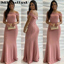 Mbcullyd Strapless Mermaid Prom Dresses Long Luxury Satin Fo