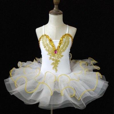 Г. Детское балетное платье Пушистый костюм платье принцессы платье для танцев с изображением маленького лебедя платье для выступлений для девочек, Costumeflower, платья для девочек - Цвет: white