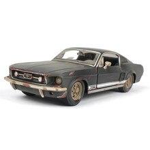 2019 1 a 24 modello di auto, la vecchia versione di Ford Mustang GT modello di auto in lega, simulazione auto decorazione