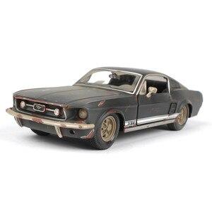 Image 1 - 2019 1 tot 24 auto model, de oude versie van de Ford Mustang GT legering model auto, simulatie auto decoratie