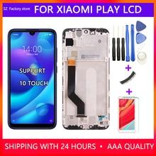 5.84 inç ekran değiştirme için xiaomi mi oyun 2280*1080 PX lcd ekran ve dokunmatik ekran digitizer çerçeve meclisi için mi oyun