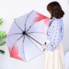 Yu bao стиль хипстерский виниловый зонтик УФ-Защитный зонтик женский солнцезащитный трехскладной зонтик настраиваемые, с логотипом