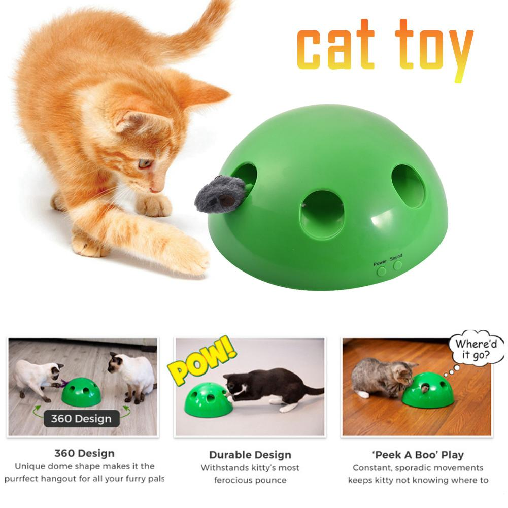 N PLAY Peek A Boo Cat Toy Funny Carnival Game Peek A Boo Play Stimulates Kitty Pet Mentally & Physically Cat Toys