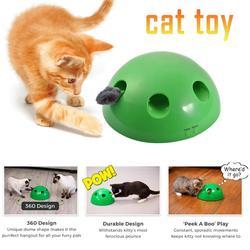 N jogar peek a boo cat brinquedo engraçado carnaval jogo peek um boo play estimula kitty pet mentalmente & fisicamente brinquedos de gato