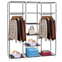 Нетканый шкаф для одежды Фабричный шкаф портативный складной Пылезащитный Водонепроницаемый шкаф для хранения шкаф мебель HWC