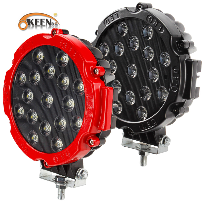 """OKEEN HIGH POWER 7"""" 51W LED WORK LIGHT WORKING SPOT/FLOOD DRIVING LIGHT BAR FOR OFF ROAD UTE 12V 24V 4x4 4WD BOAT SUV TRUCK JEEP(China)"""