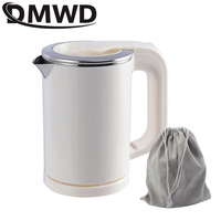 DMWD Dual Voltage Travel water Heating Boiler MINI Electric kettle cup Heater Portable Camping stainless steel teapot 110V-220V