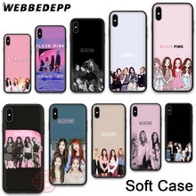 WEBBEDEPP 12N BLACK PINK Soft Phone Case for iPhone X XR XS 11Pro Max 7 8 6S Plus 5S SE 8Plus 7Plus 11 Pro Cases