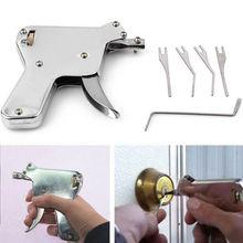 New Locksmith Key Repair Tools Lock Gun with Transparent Practice Locks Broken Key Extractor Pick Tool
